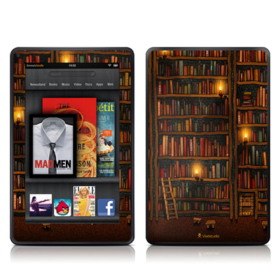 Amazon Kindle Fire Skin (High Gloss Finish) - Library