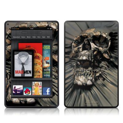 Kindle Fire Skin (High Gloss Finish)   Skull Wrap