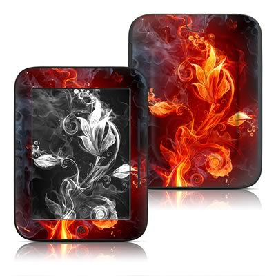 Barnes and Noble Nook Touch Skin (High Gloss Finish) - Flower Of Fire