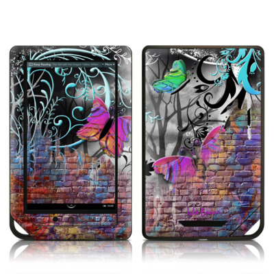 Barnes and Noble NOOK Tablet Skin (High Gloss Finish) - Butterfly Wall