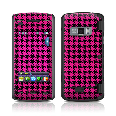 LG enV Touch Skin (High Gloss Finish) - Pink Houndstooth