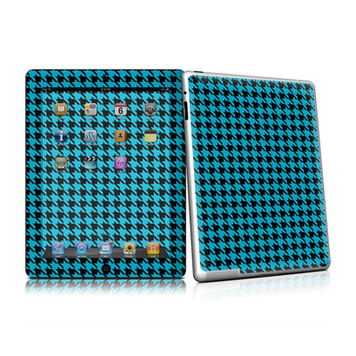 iPad 2 Skin (High Gloss Finish) - Teal Houndstooth