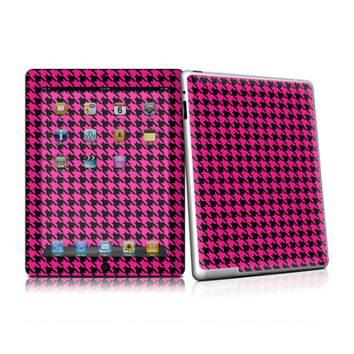 iPad 2 Skin (High Gloss Finish) - Pink Houndstooth