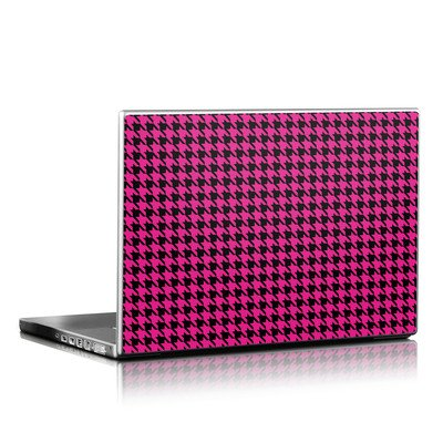 Laptop Skin (High Gloss Finish) - Pink Houndstooth