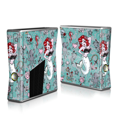 Xbox 360 S Skin (High Gloss Finish)   Molly Mermaid
